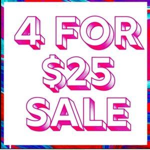 4/$25 Sale Rules & Regulations..